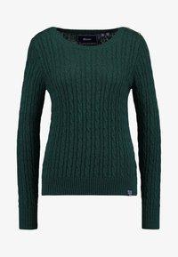 Superdry - CROYDE CABLE  - Jersey de punto - emerald green - 4