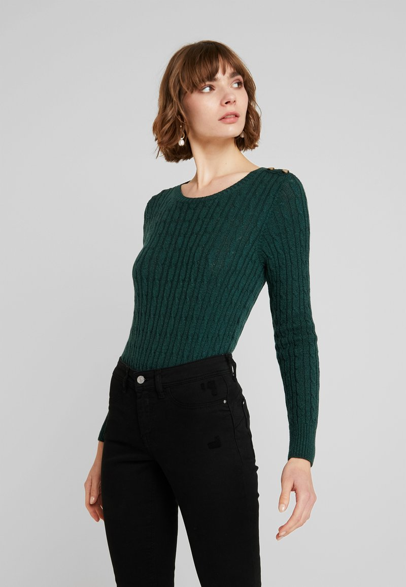 Superdry - CROYDE CABLE  - Jumper - emerald green