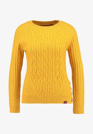 HESTER CABLE JUMPER - Neule - amber ochre