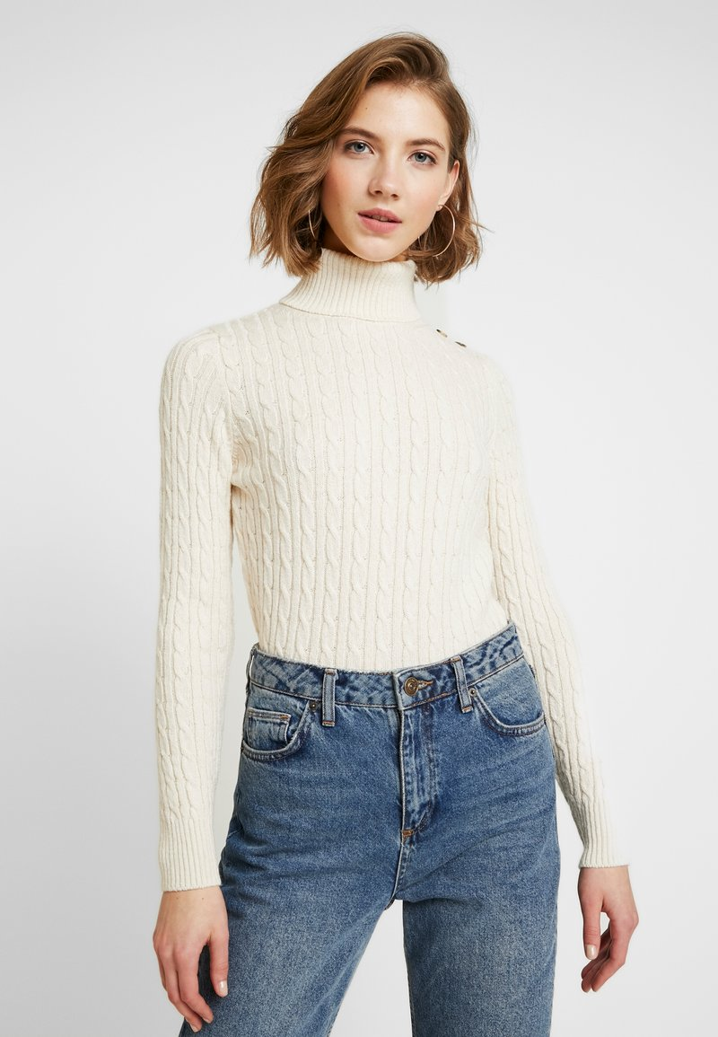 Superdry - CROYDE CABLE ROLL NECK - Svetr - winter