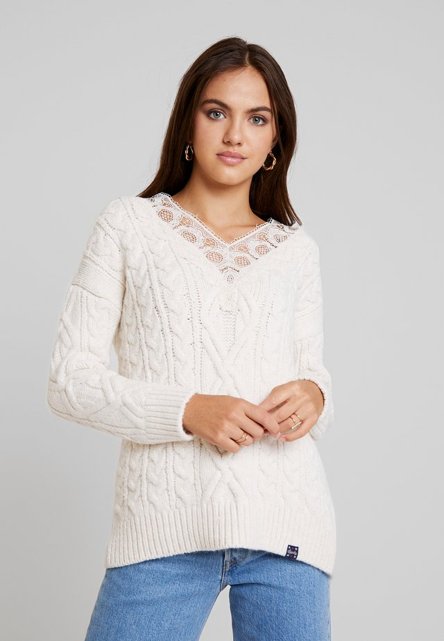 LANNAH CABLE - Pullover - cream