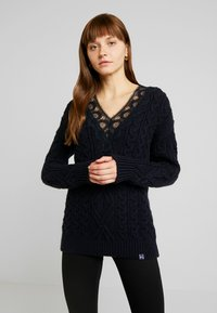 Superdry - LANNAH CABLE - Pullover - navy - 0