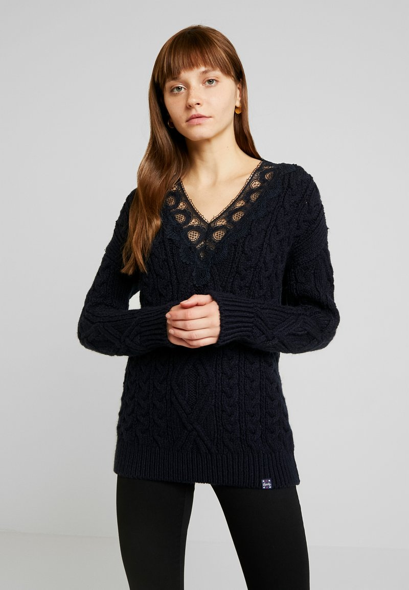 Superdry - LANNAH CABLE - Pullover - navy