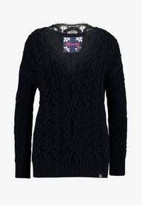 Superdry - LANNAH CABLE - Pullover - navy - 3