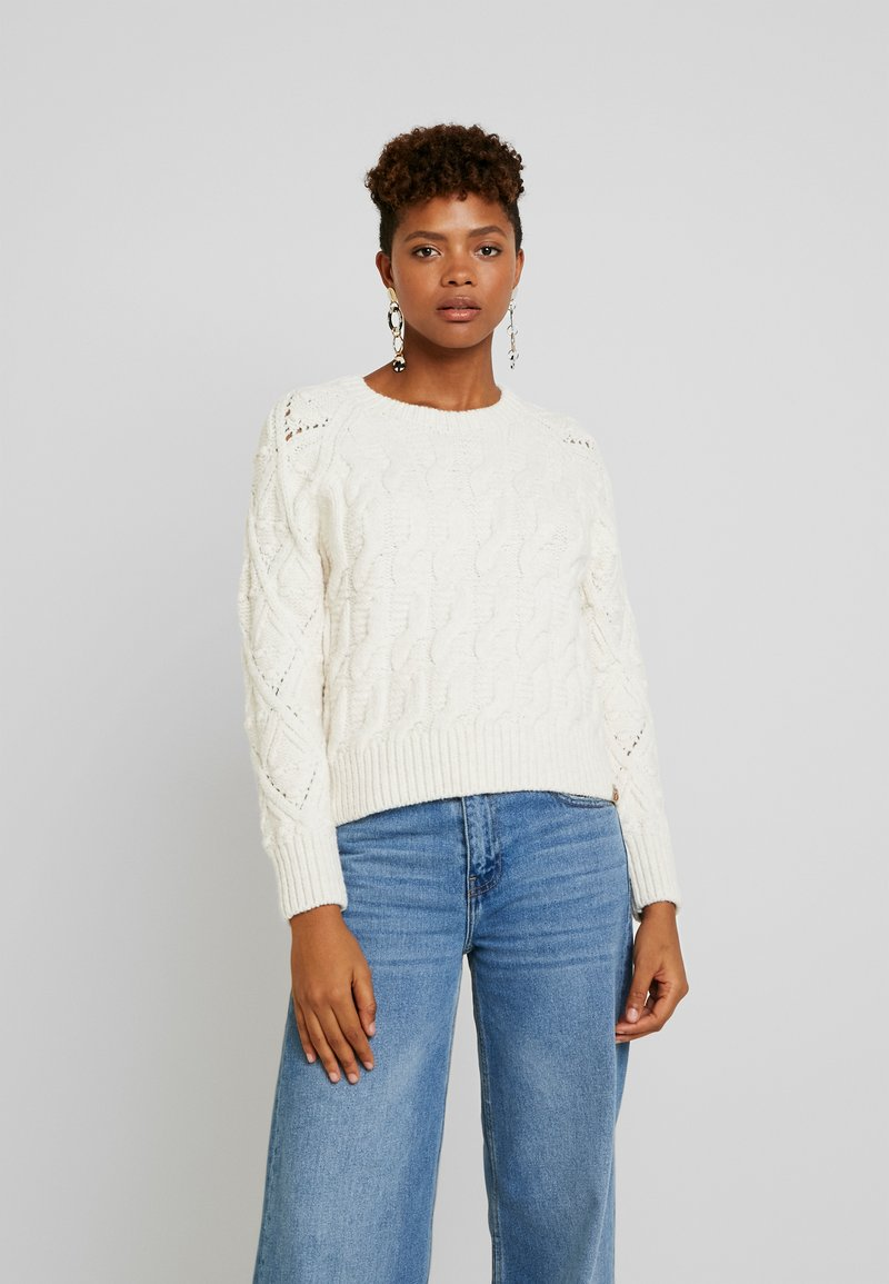 Superdry - SOPHIE ANN CABLE - Jumper - cream