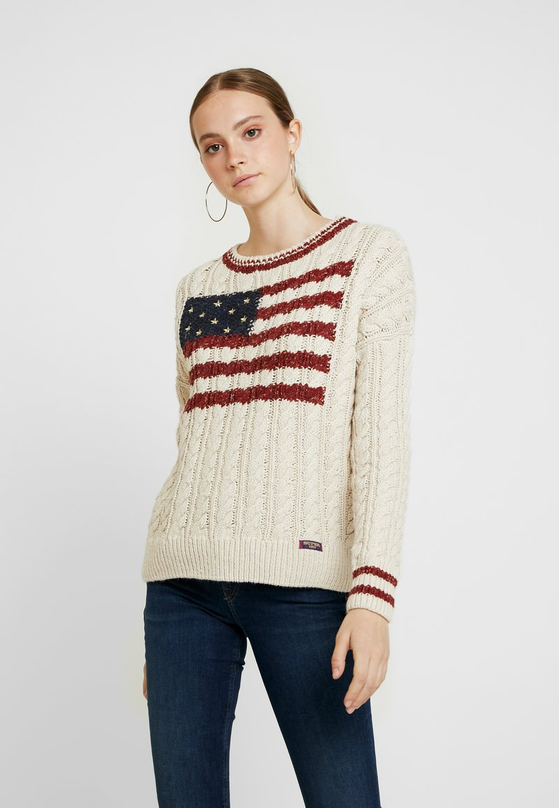 Superdry - AMERICAN - Strickpullover - winter white