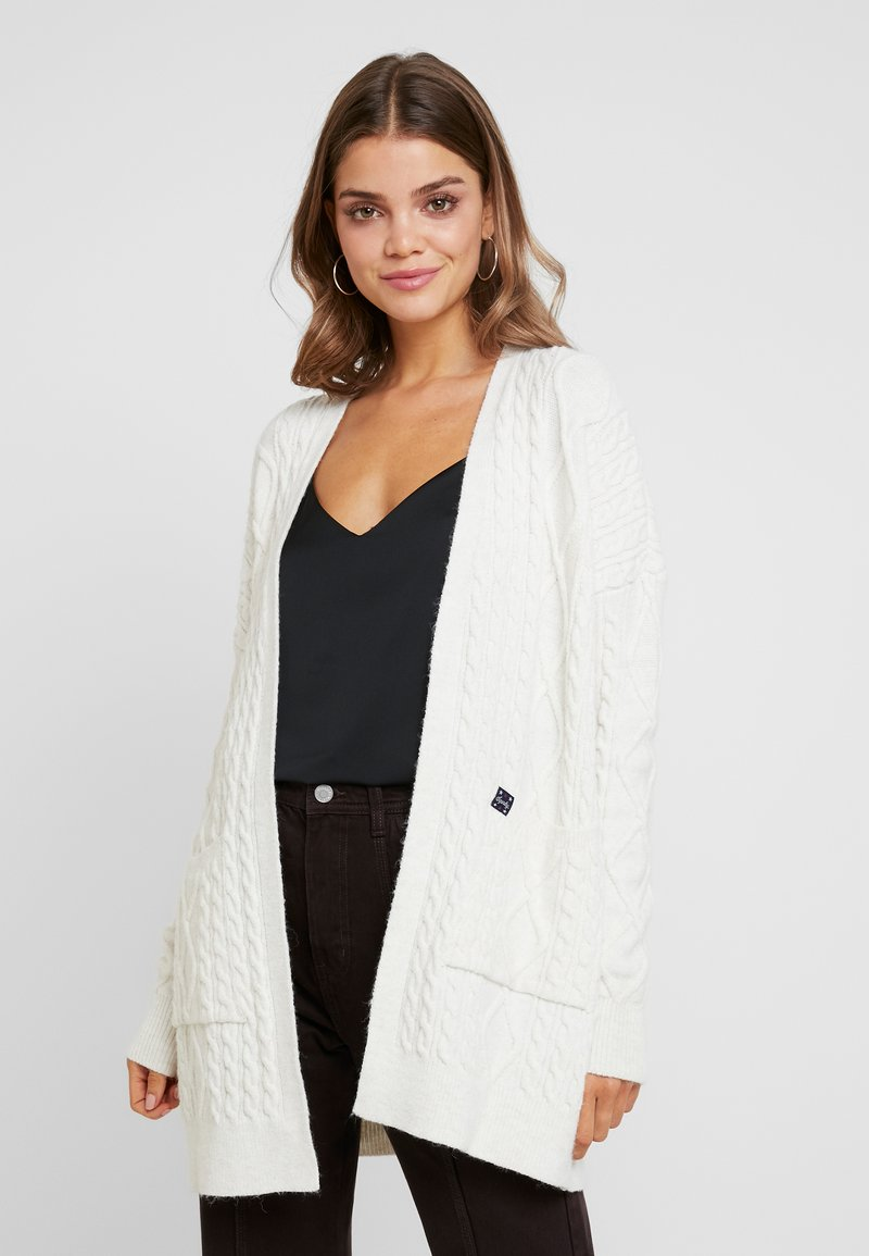 Superdry - LANNAH CABLE CARDIGAN - Chaqueta de punto - winter