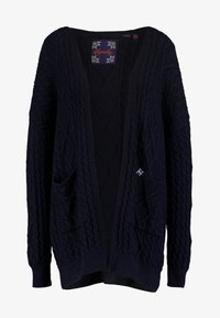 Superdry - LANNAH CABLE CARDIGAN - Cardigan - eclipse navy - 3