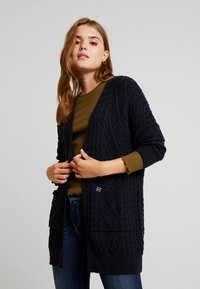 Superdry - LANNAH CABLE CARDIGAN - Cardigan - eclipse navy - 0