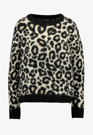 LISA LEOPARD JUMPER - Stickad tröja - brown