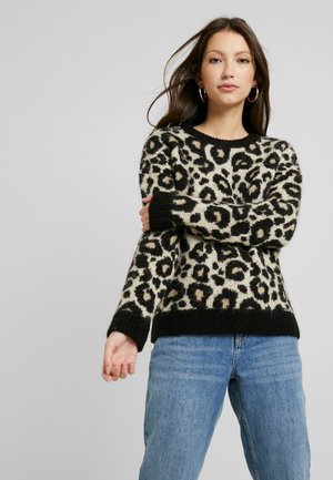 LISA LEOPARD JUMPER - Strikpullover /Striktrøjer - brown