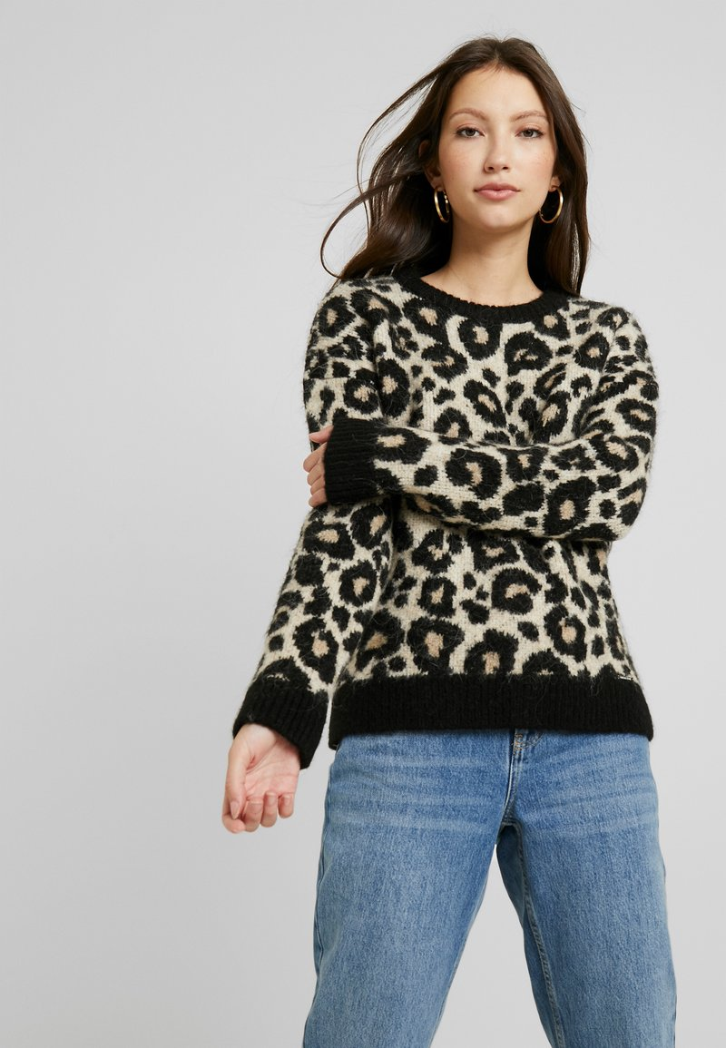 Superdry - LISA LEOPARD JUMPER - Jumper - brown