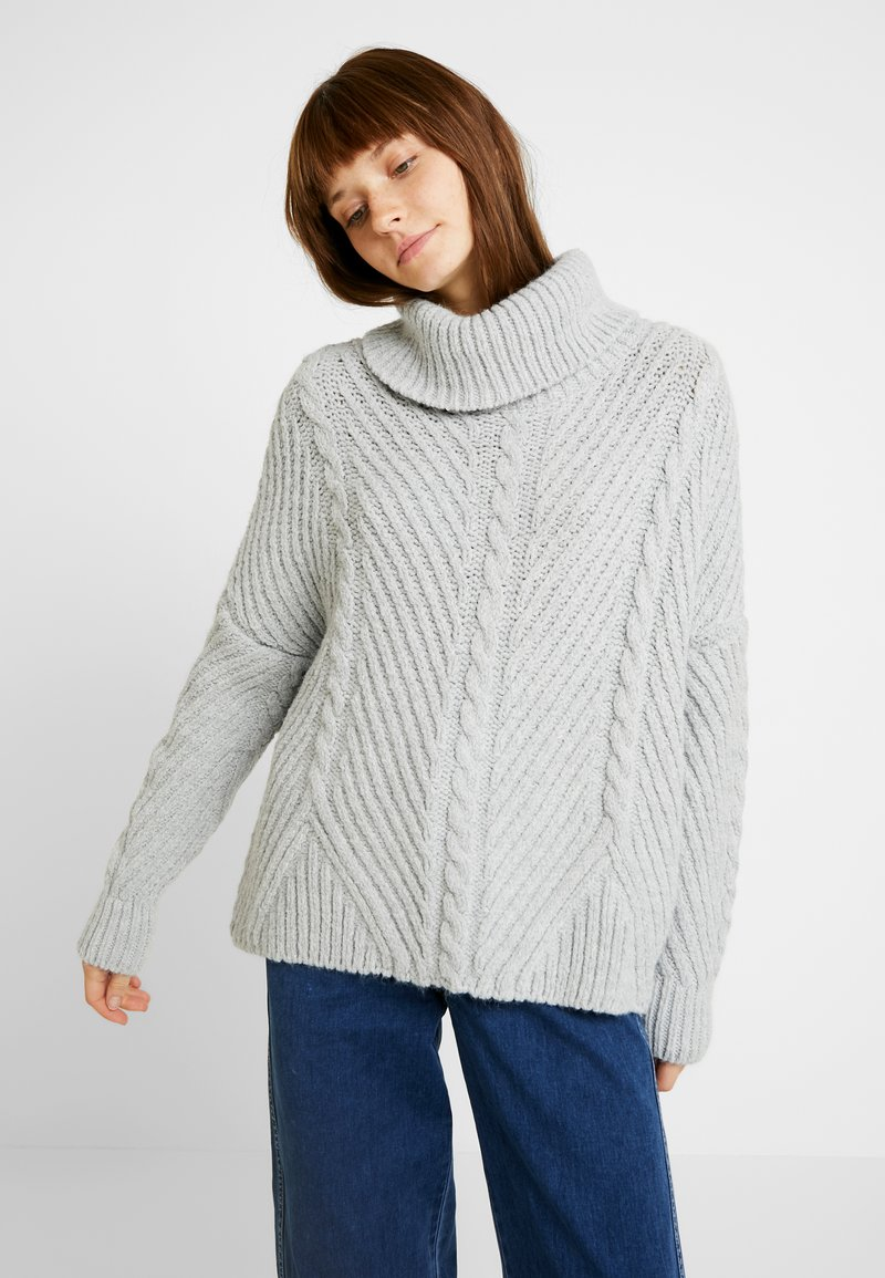 Tori Superdry Cable Superdry CapePullover Grey 80mnwOvN