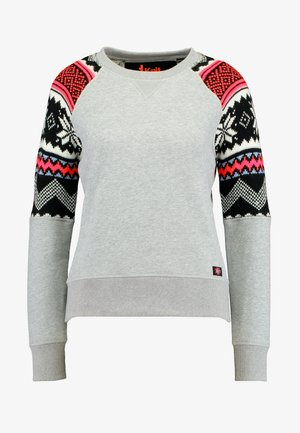 COURCHEVEL MIX JUMPER - Sweatshirt - mid grey