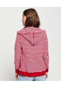 Superdry - veste en sweat zippée - nautical red stripe - 2