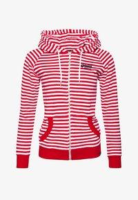 Superdry - veste en sweat zippée - nautical red stripe - 4