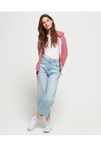 Superdry - veste en sweat zippée - nautical red stripe - 1