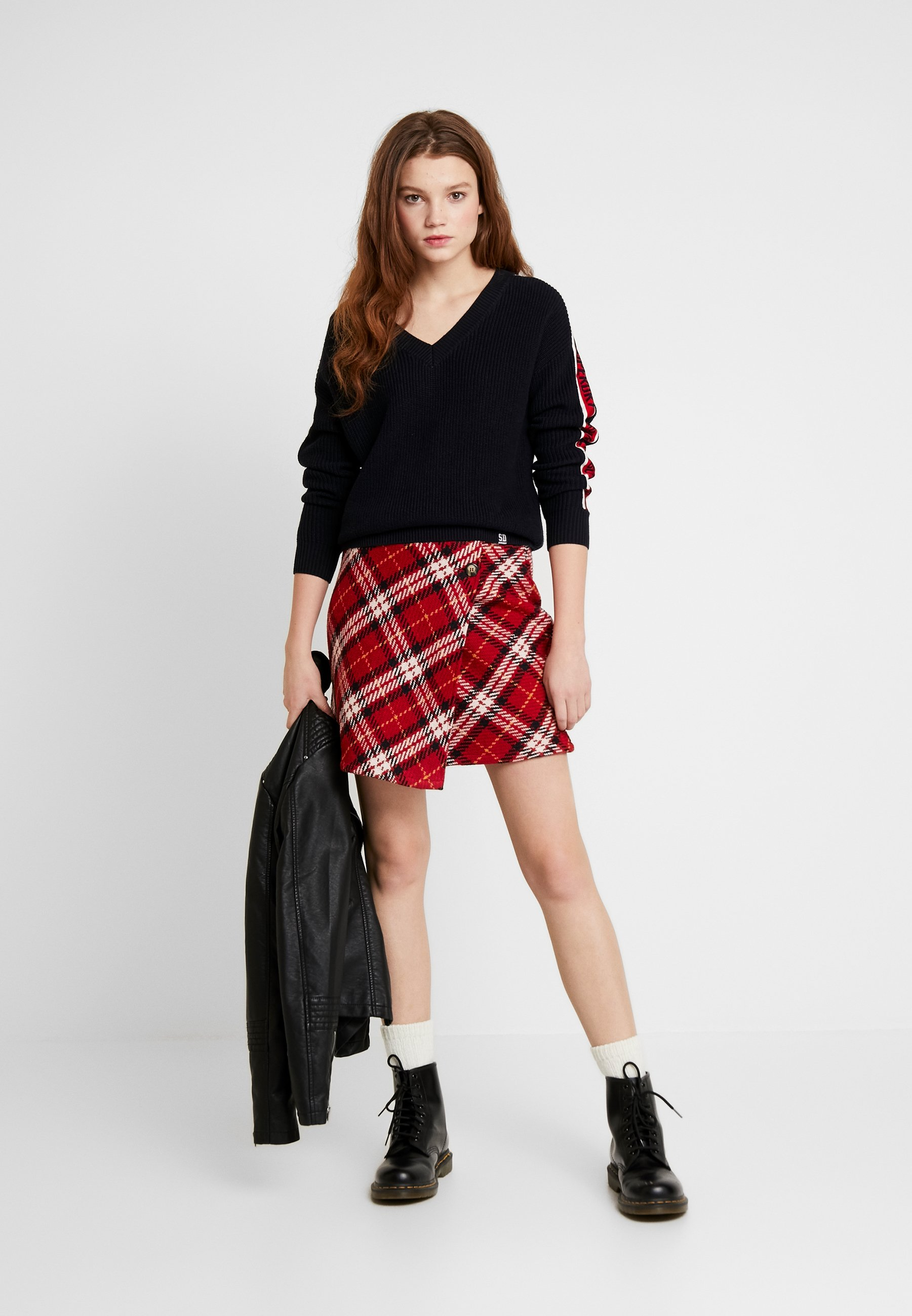 Superdry SPORTY TAPED - Maglione - eclipse navy yjAzu5le