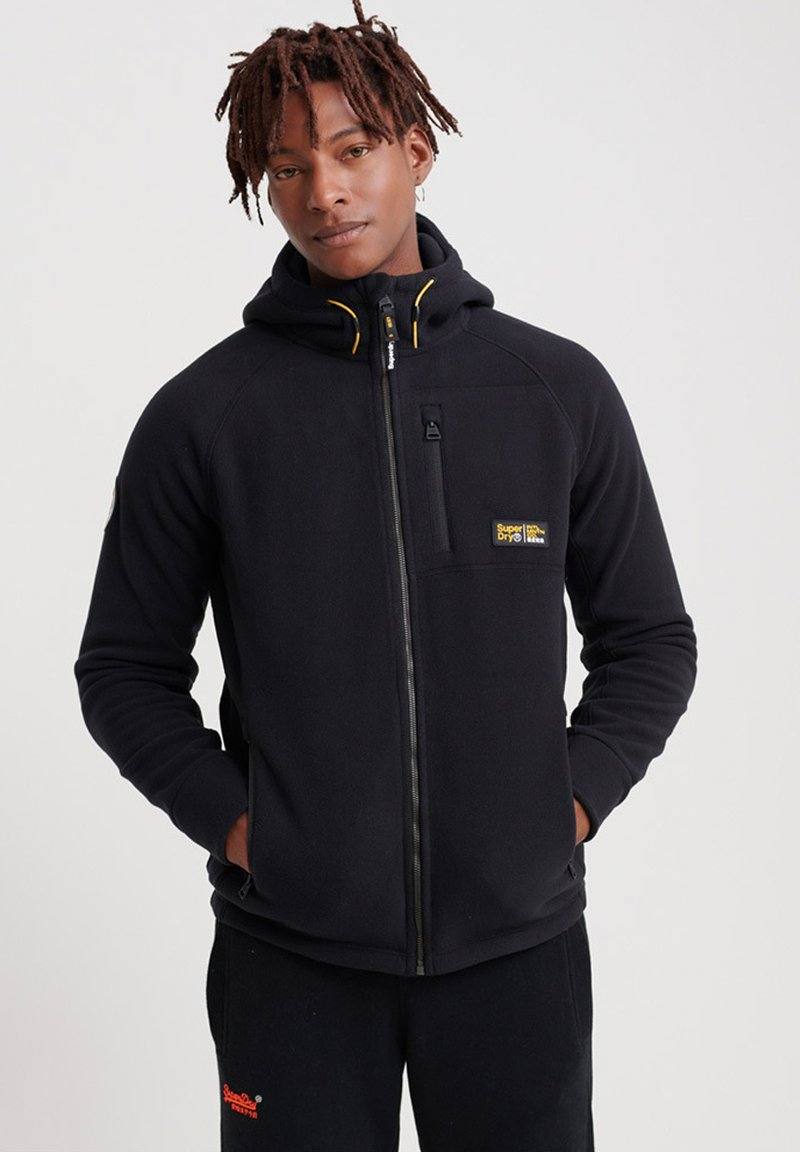 Superdry - Fleece jacket - black