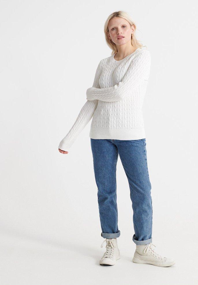 Superdry CROYDE BAY - Sweter - chalk white
