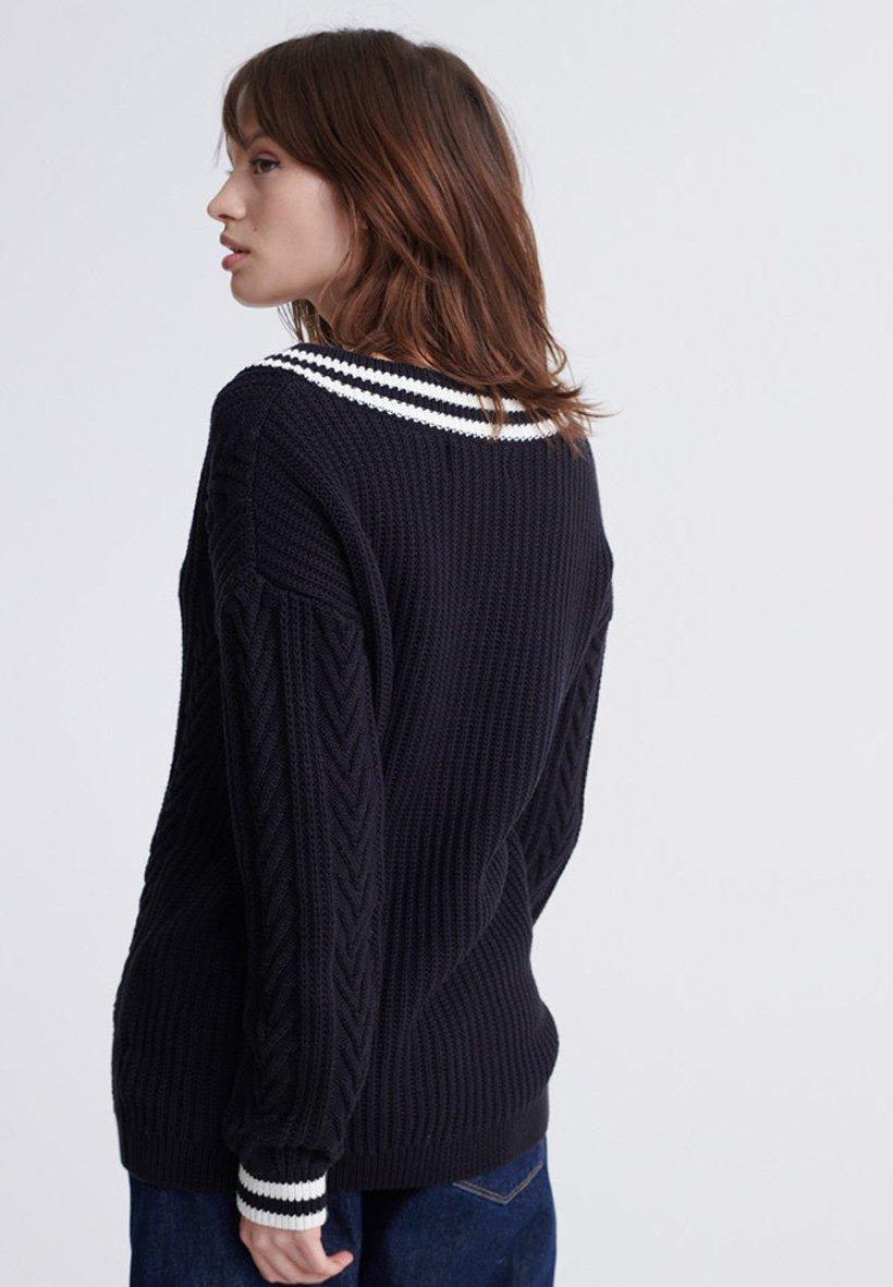 Superdry Sweter - black