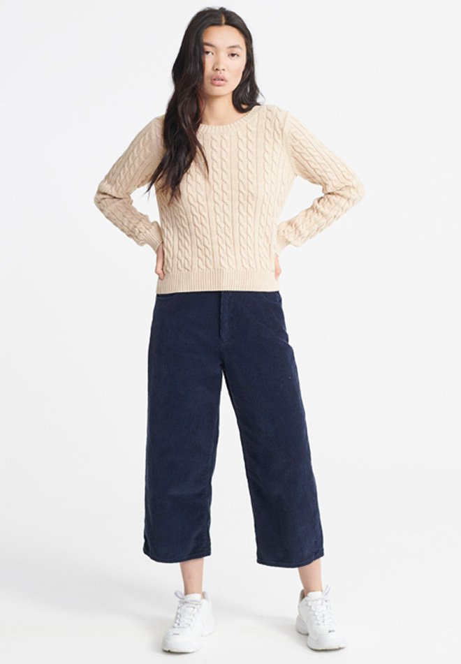 Superdry Becky Cable Knit Jumper - Maglione Beige wcet7Sv