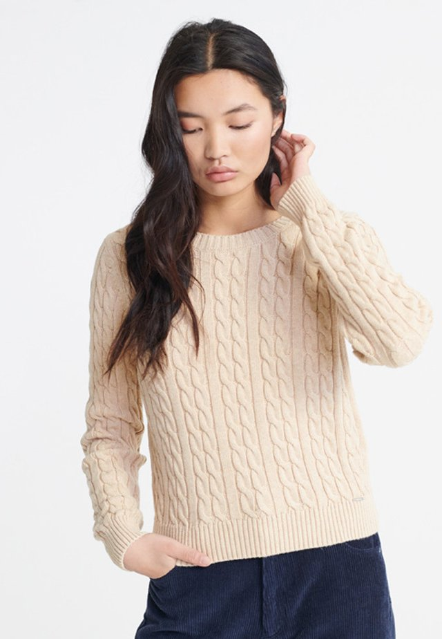 SUPERDRY BECKY CABLE KNIT JUMPER - Maglione - beige