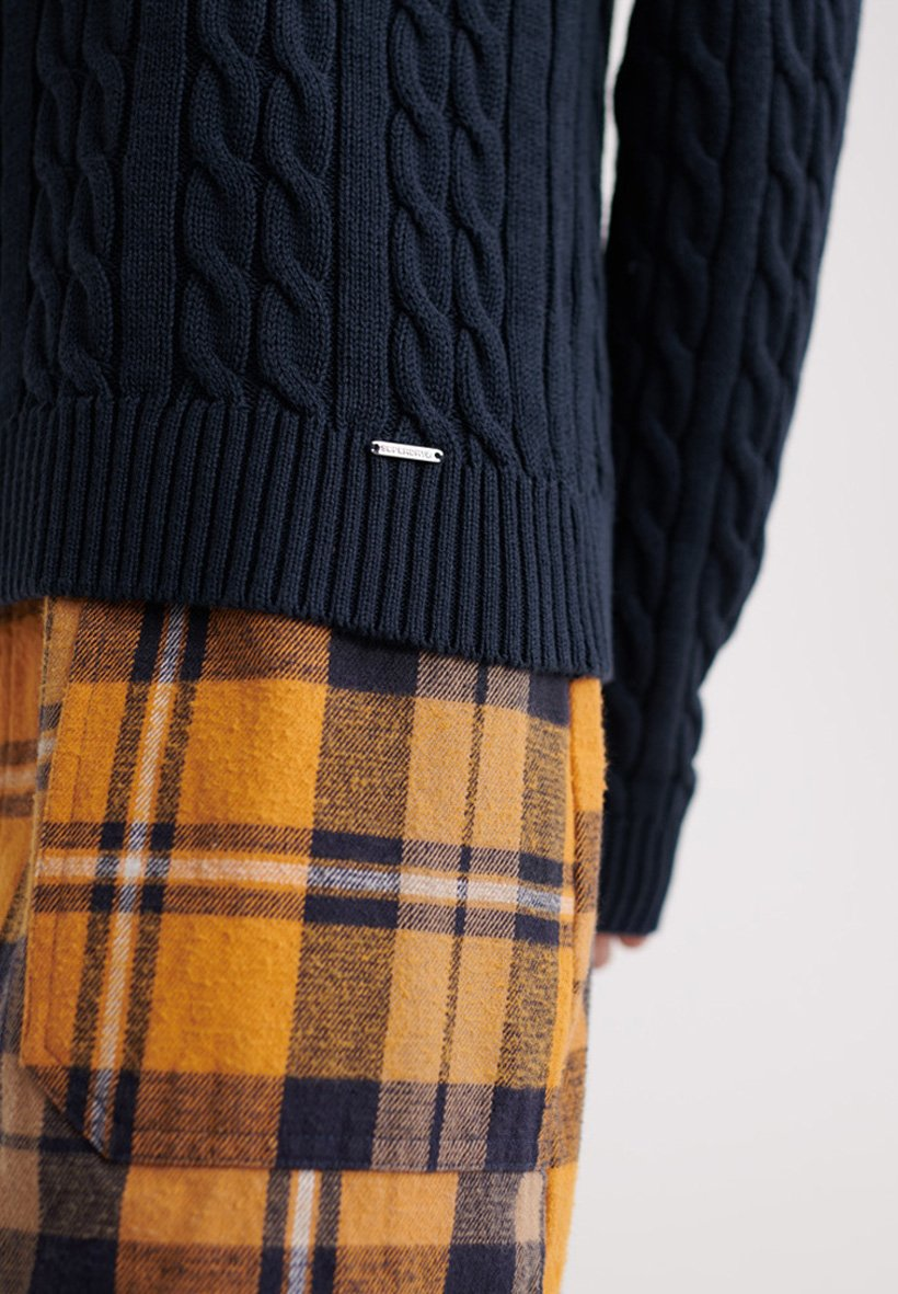 Superdry SUPERDRY BECKY CABLE KNIT JUMPER - Maglione - richest navy