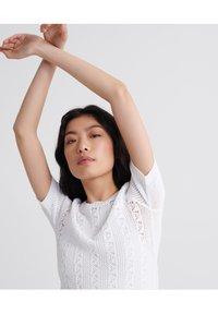 Superdry - BELLA POINTELLE - T-shirt imprimé - chalk white - 3