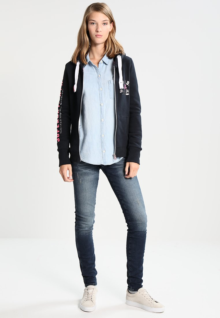 veste en sweat zippée eclipse navy