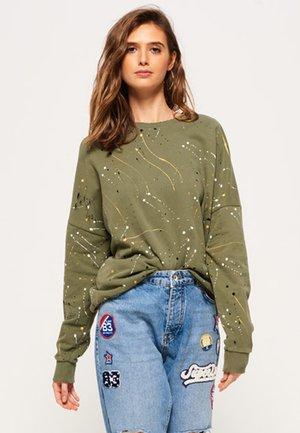 EDGY NIBBLED - Sweatshirt - soft khaki