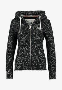 Superdry - ORANGE LABEL ZIPHOOD - veste en sweat zippée - black - 4