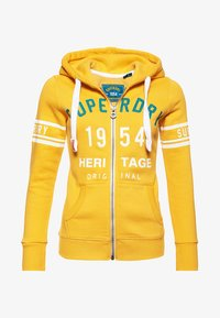 Superdry - HERITAGE - veste en sweat zippée - sporty ochre - 4