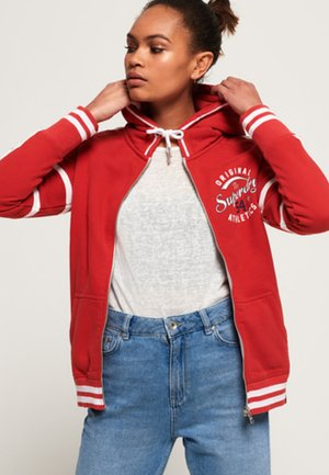 PLAYOFF - veste en sweat zippée - red