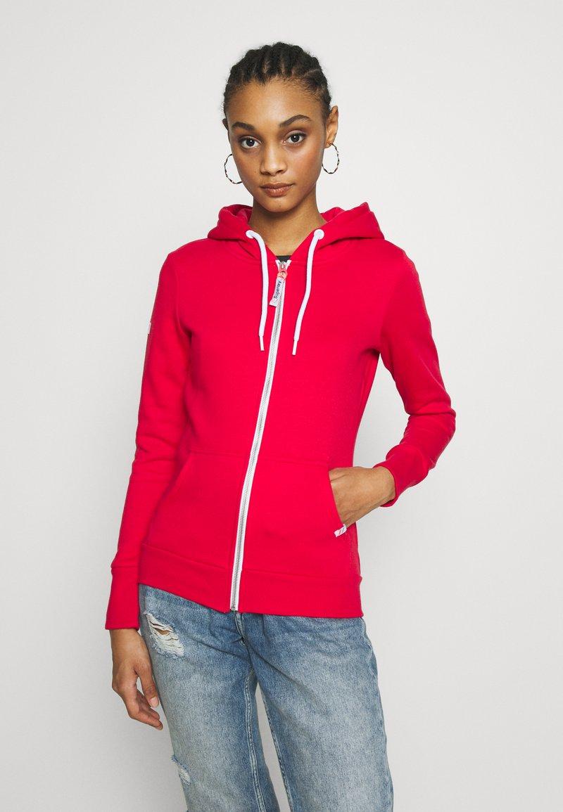 Superdry - ATHLETIC ZIPHOOD - veste en sweat zippée - trady red