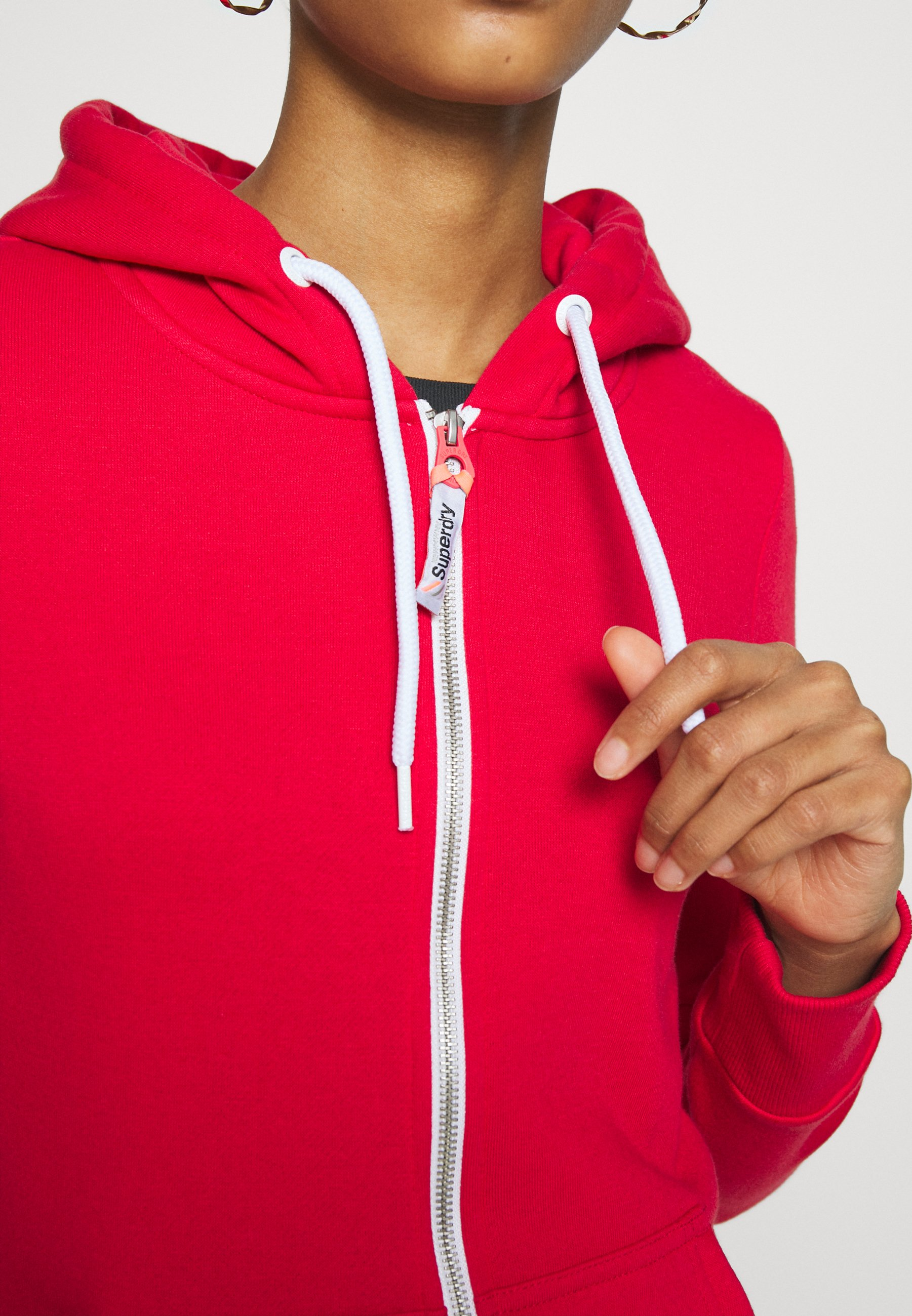 ATHLETIC ZIPHOOD veste en sweat zippée trady red