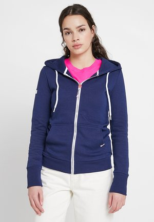 ATHLETIC ZIPHOOD - veste en sweat zippée - city navy