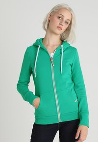 Superdry - ATHLETIC ZIPHOOD - Bluza rozpinana - city green - 0