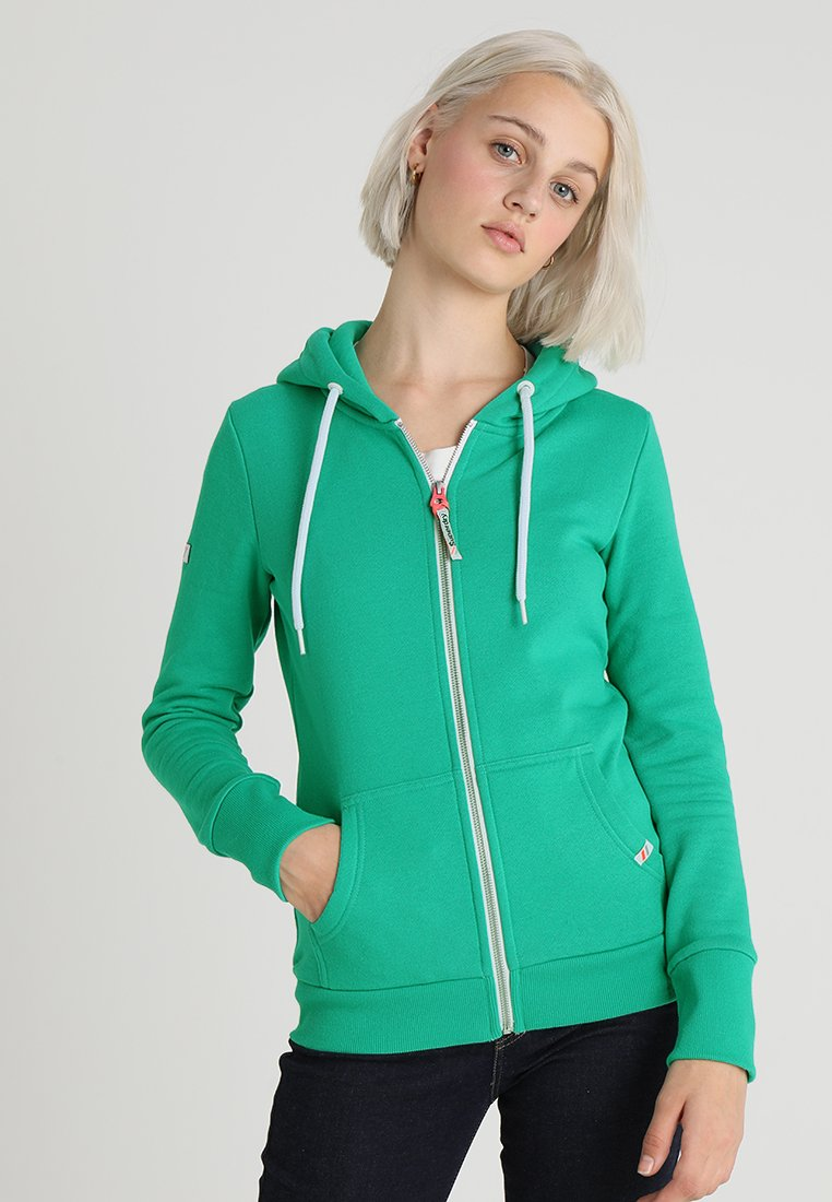 Superdry - ATHLETIC ZIPHOOD - Bluza rozpinana - city green