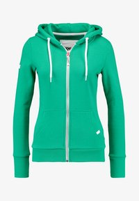 Superdry - ATHLETIC ZIPHOOD - Bluza rozpinana - city green - 4