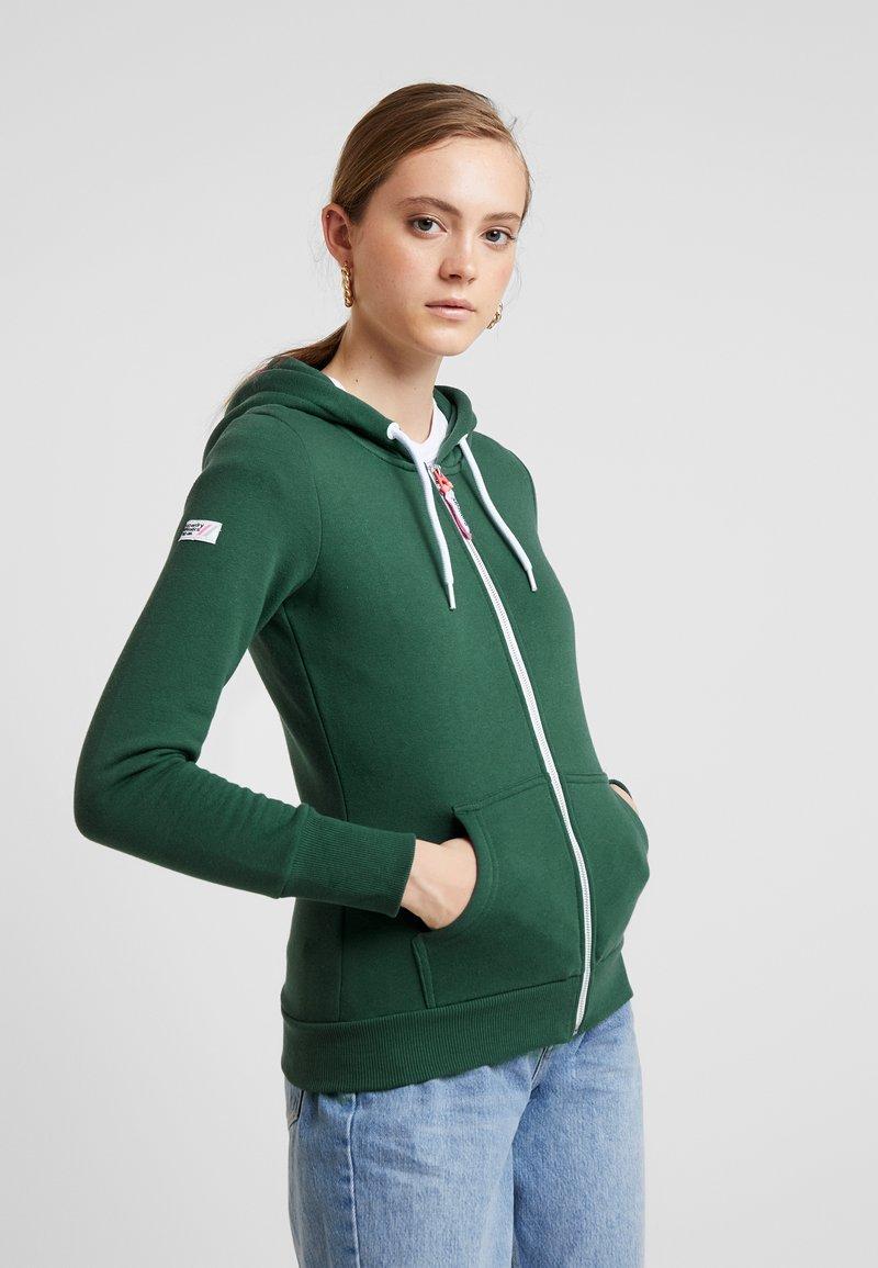 Superdry - ATHLETIC ZIPHOOD - Zip-up hoodie - spruce