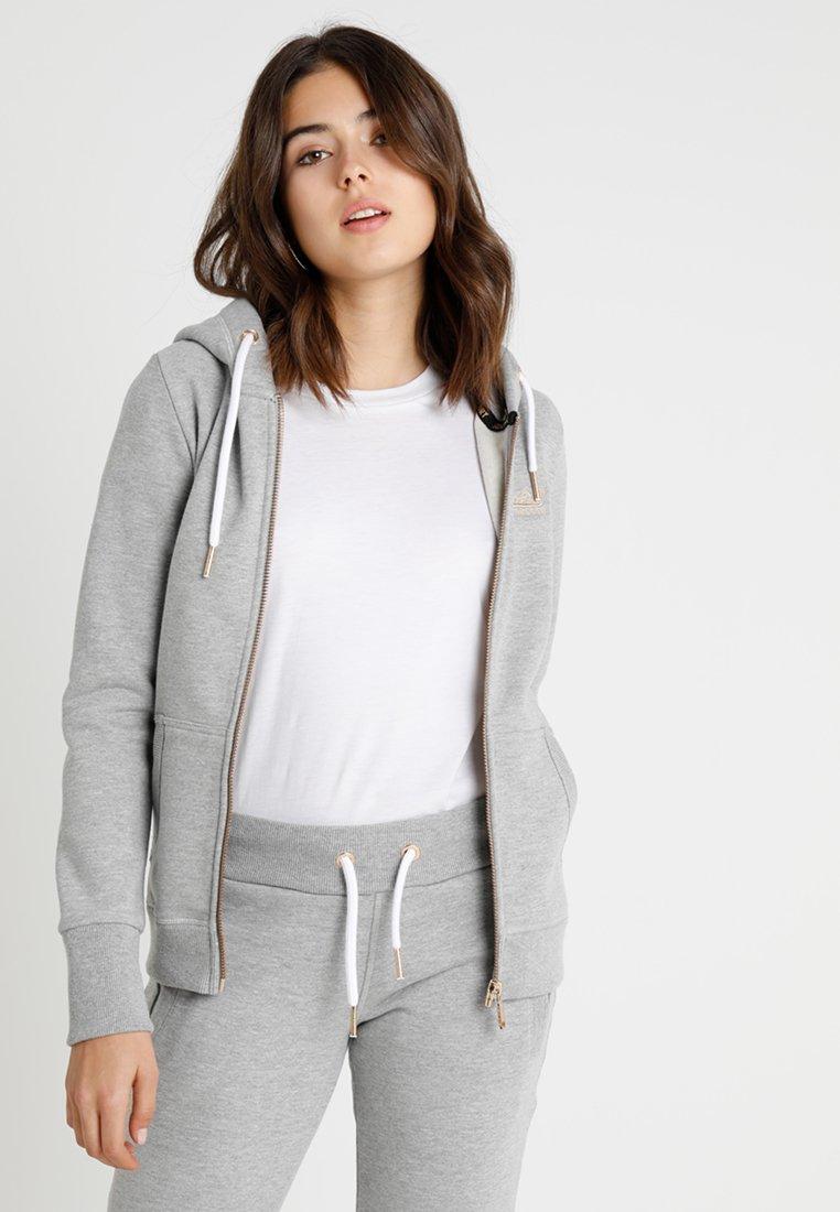 Superdry Elite En Label Grey ZiphoodVeste Marl Zippée Sweat tsCodBhQxr