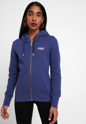 LABEL ELITE ZIPHOOD - Zip-up hoodie - hinto blue