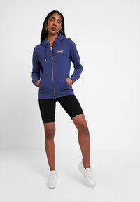 Superdry - LABEL ELITE ZIPHOOD - veste en sweat zippée - hinto blue - 1