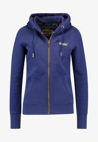 Superdry - LABEL ELITE ZIPHOOD - veste en sweat zippée - hinto blue - 3