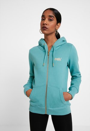 LABEL ELITE ZIPHOOD - Zip-up hoodie - beryl green