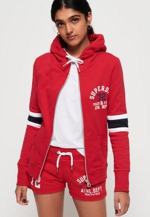 TRACK &AMP - veste en sweat zippée - primary red