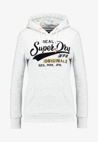 Superdry - REAL ORIGINALS ENTRY HOOD - Jersey con capucha - ice marl - 3