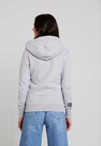 Superdry - APPLIQUE ZIPHOOD - Sudadera con cremallera - mid grey marl - 2