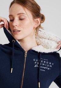 Superdry - APPLIQUE ZIPHOOD - Zip-up hoodie - navy - 5